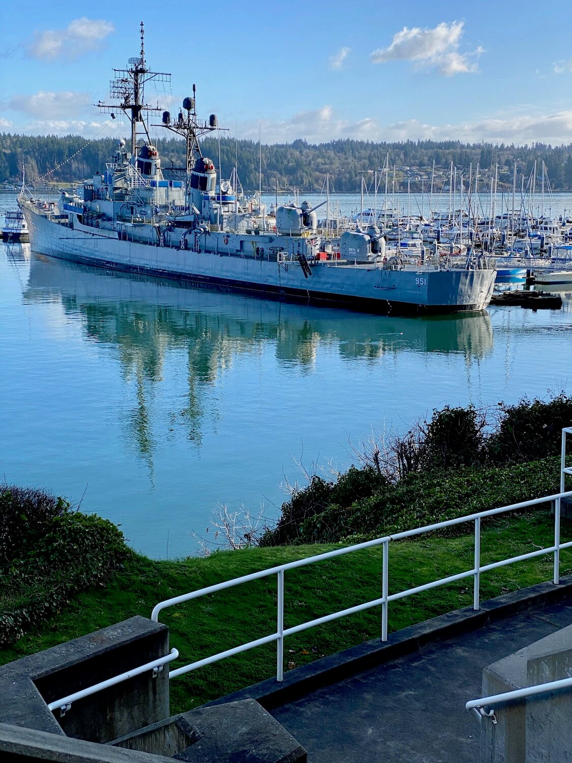 The warship USS Joy is normally open for tours but temporarily closed during COVID.  The ship is in the harbor of Bremerton and is a great site to visit on a day trip from Seattle.
